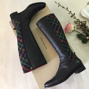 Authentic Burberry Boots with tartan check sz 39.5